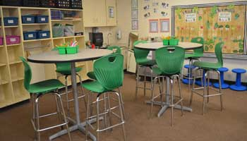 School Board Members Tour Classroom Renovations