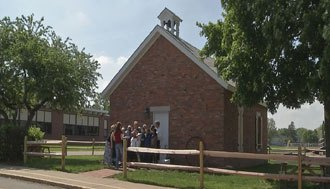 Lincoln fourth grade beautifies one-room schoolhouse