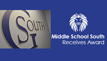 Middle School South Receives Statewide Award