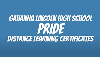 GLHS Students Show PRIDE During Distance Learning
