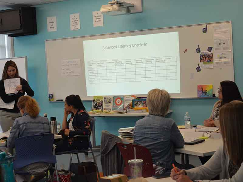 Teachers learn during the GJPS Language Arts Summer Institute