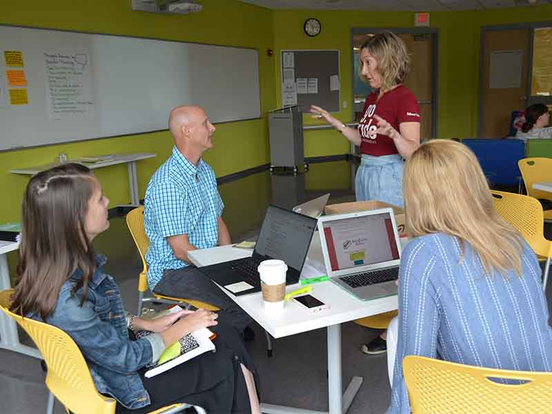 Teachers learn during the GJPS Summer Language Arts institute