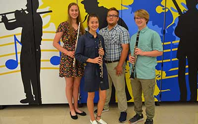 4 Students earn state music recognition.