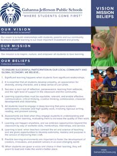 GJPS Vision, Mission and Beliefs